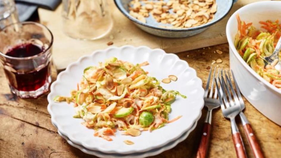 Rosenkohl-Möhren-Salat