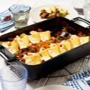 Ratatouille-Polenta-Auflauf mit Feta