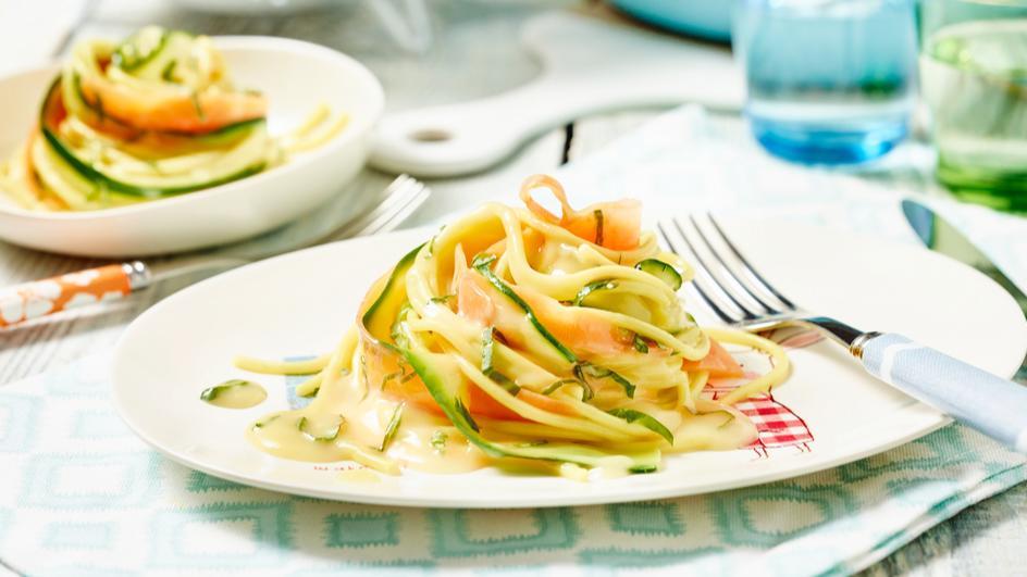 Gemüse-Spaghetti-Nester