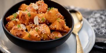 Sesame Peanut Jeera Aloo Recipe