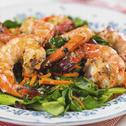 Kailan with Grilled Prawn