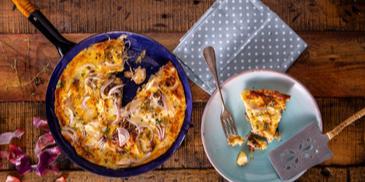 Ομελέτα φούρνου με κοτόπουλο και πατάτες
