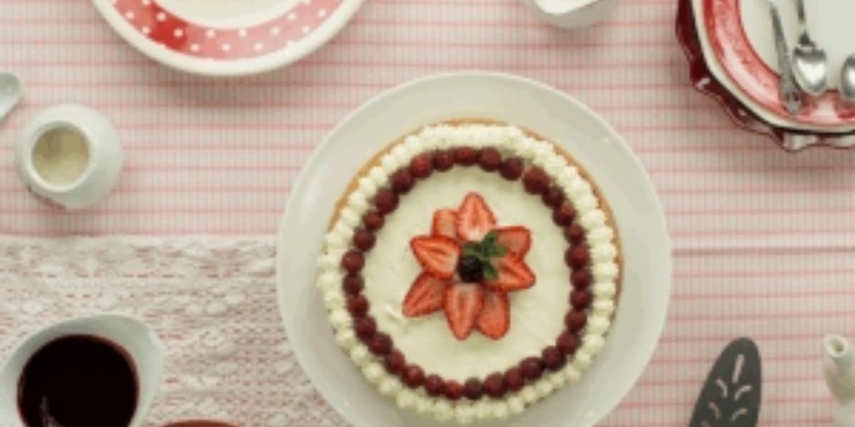 Cheesecake de mora y frutilla