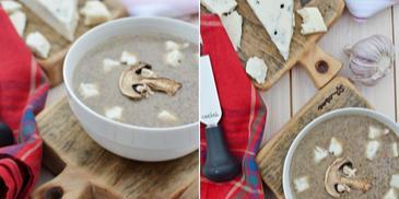 Zupa pieczarkowa – krem z pieczarek suszonych z gorgonzolą