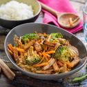 Satay Tofu mit Brokkoli