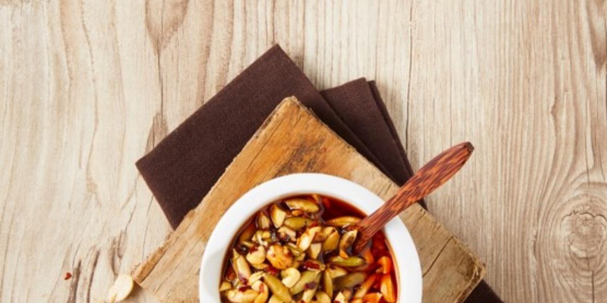 Salsa de cacahuate con pepita