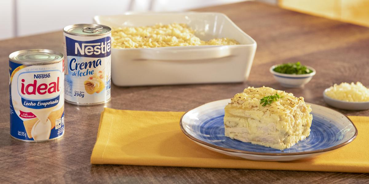 Lasaña de Pollo en Salsa Blanca