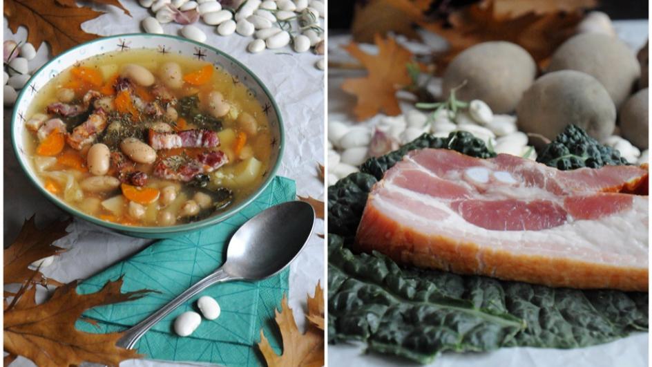 Zupa fasolowa z boczkiem i ziemniakami