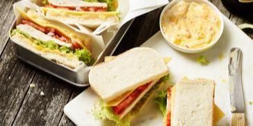 Puten-Sandwich mit Mango-Chutney