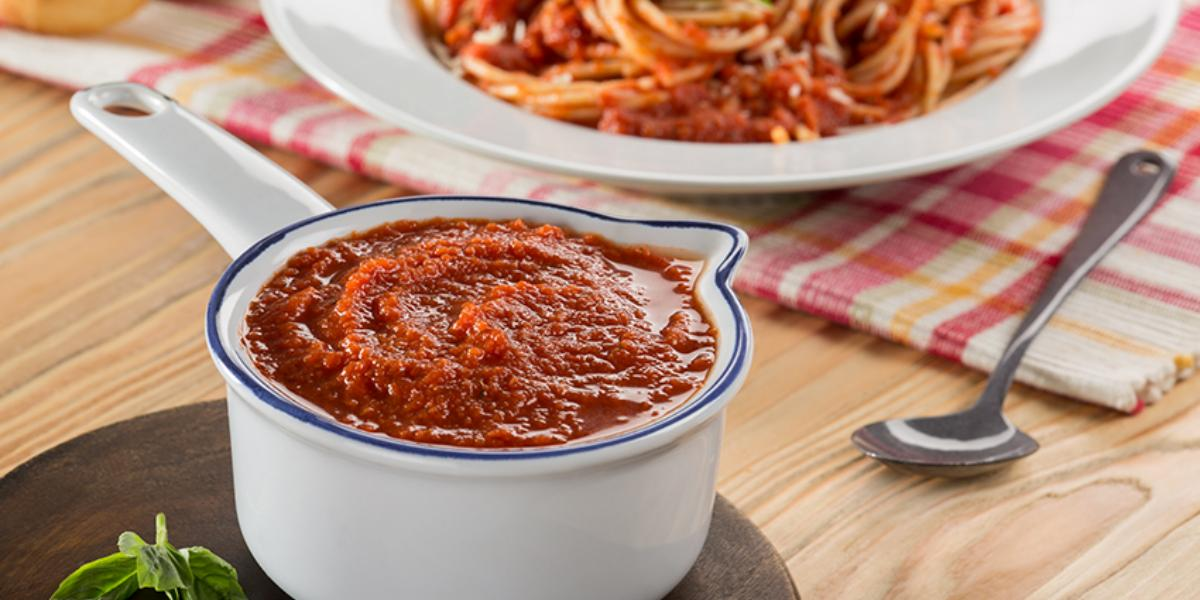 Espagueti en salsa de tomate
