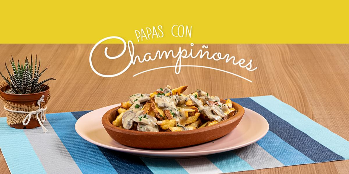 PAPAS CON CHAMPIÑONES