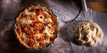 Ανοιχτή πίτα με μοσχαράκι και τυρί κρέμα