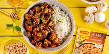 Orientalny gulasz z sosem sojowym