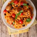 Špageti milanese i domaće ćufte