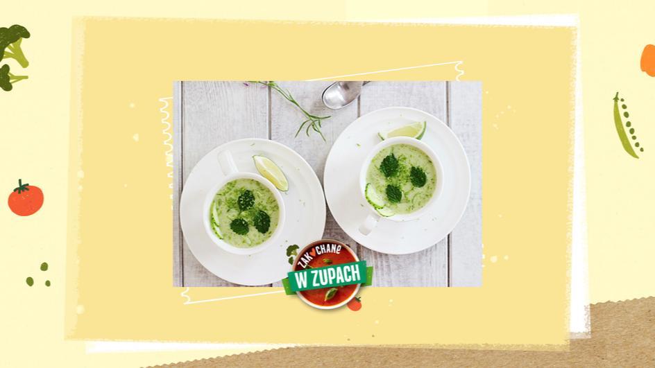 Zupa miętowa na zimno z ogórkiem i limonką