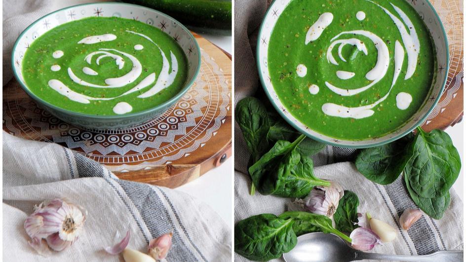 Zupa szpinakowa z serkiem topionym