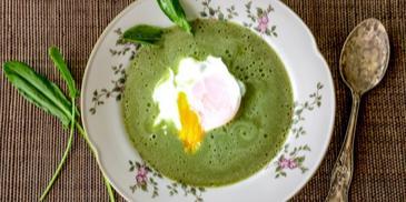 Zupa szczawiowa z młodego szczawiu – krem z mlekiem kokosowym