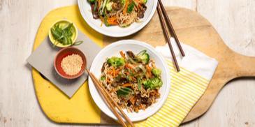 Sesame & Shallot Beef Noodles