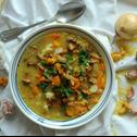 Zupa kurkowa z kaszą jaglaną