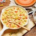 Cremige Kartoffel-Gemüse-Pfanne