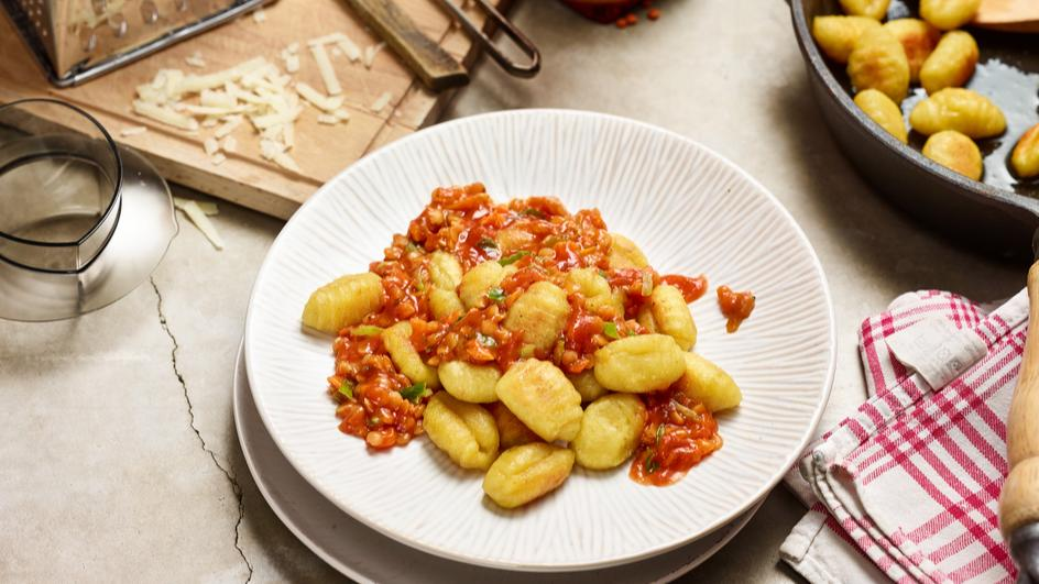 Rote Linsen-Bolognese aus dem Thermomix