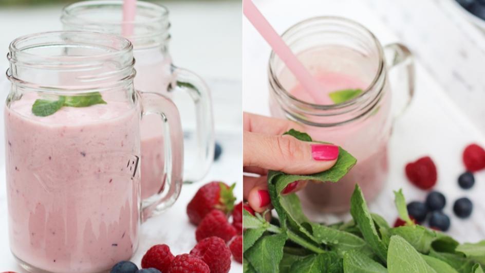 Jogurtowy chłodnik z owocami na Dzień Dziecka
