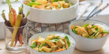 Curry mit Tofu und Ananas