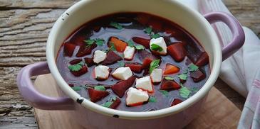 Zupa z buraków pieczonych