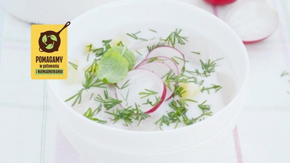 Wiosenna zupa rzodkiewkowa