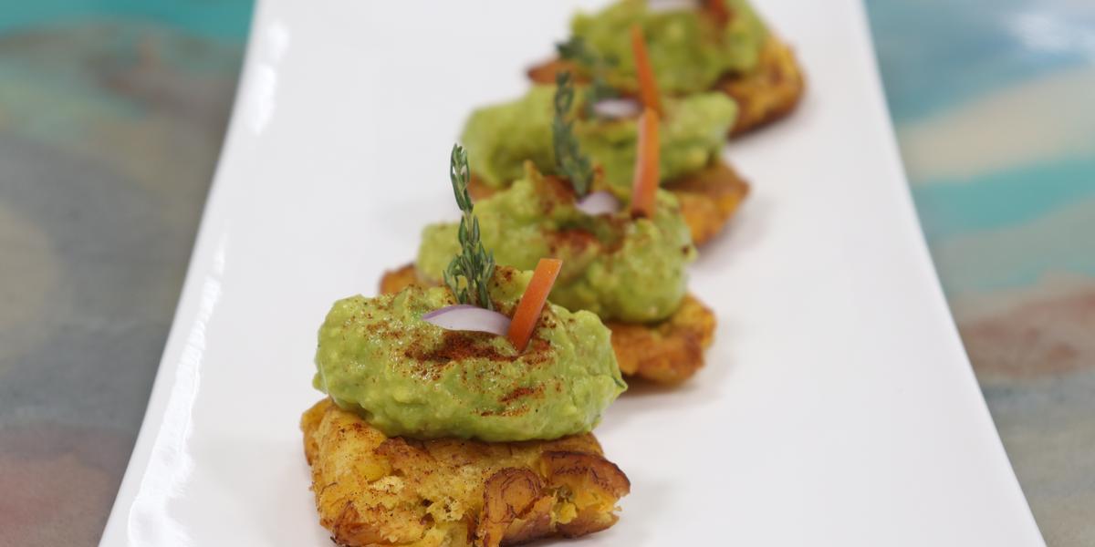 Holy Guacamole on homemade tostones