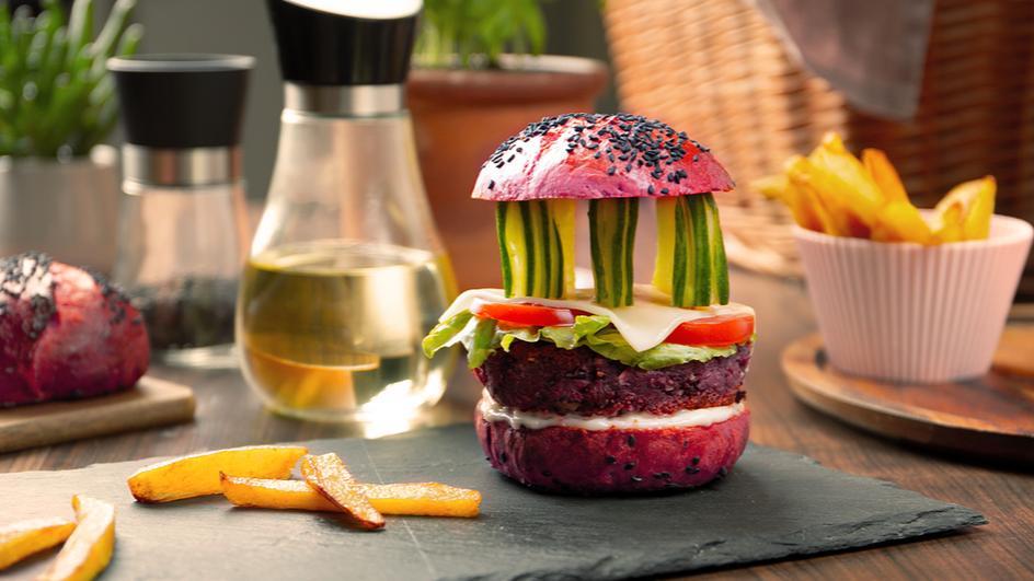 Pinker Akropolis-Burger