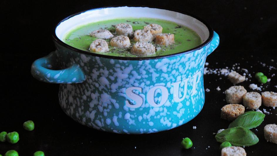 Zupa krem z groszku bez śmietany