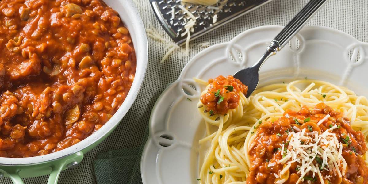 Spaguetti con falso boloñesa