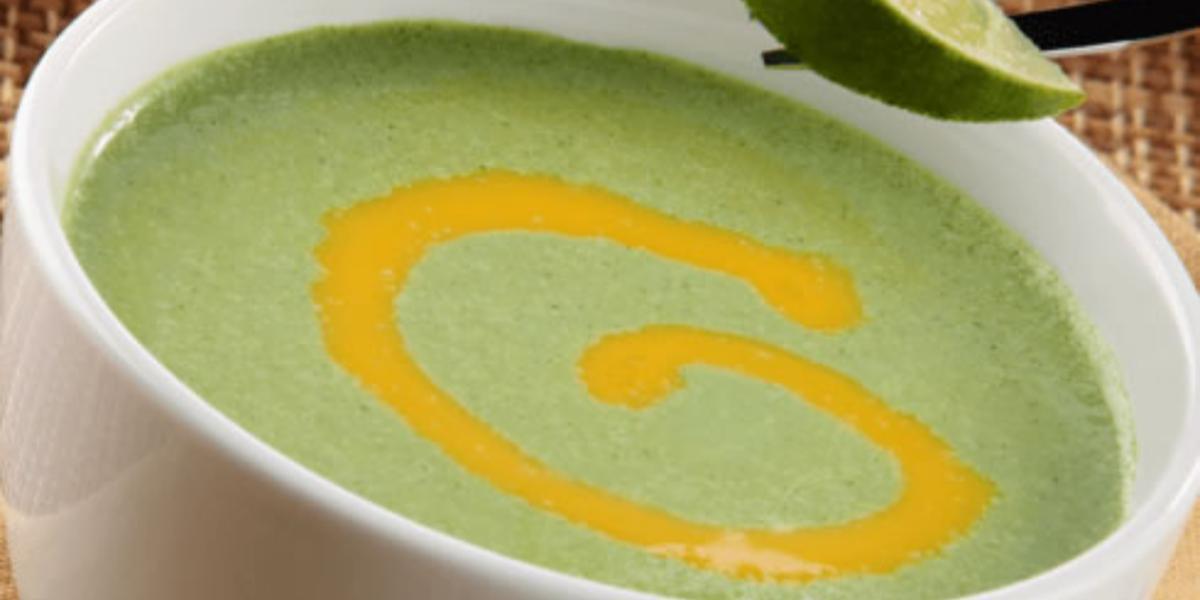 Sopa fría de berros y limones