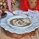 Zupa z suszonych owoców z prażonymi migdałami