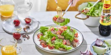 Xà Lách Trộn Thịt Bò Cà Chua