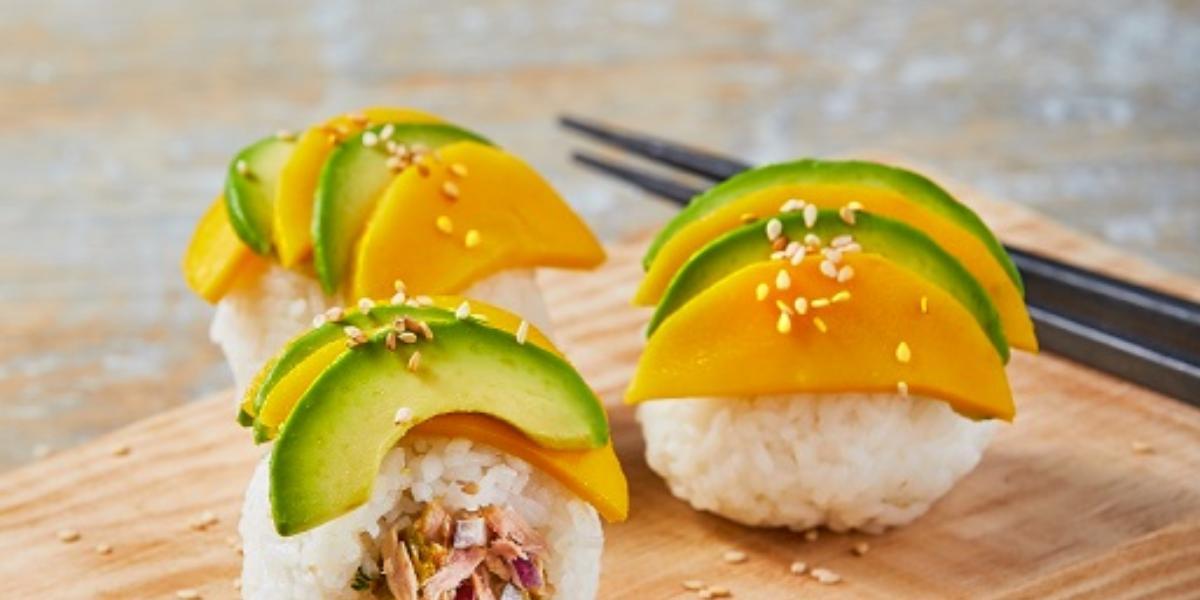 Bolitas de arroz con mango