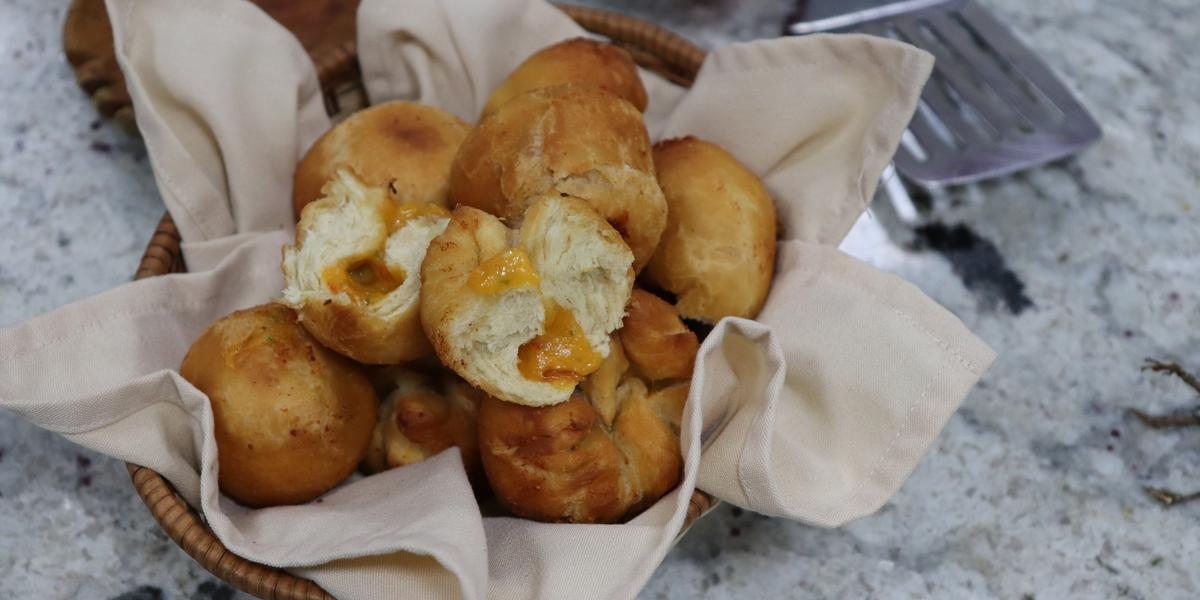Cheesy Fried Dumpling
