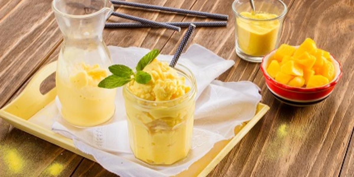 Frappé de mango y vainilla
