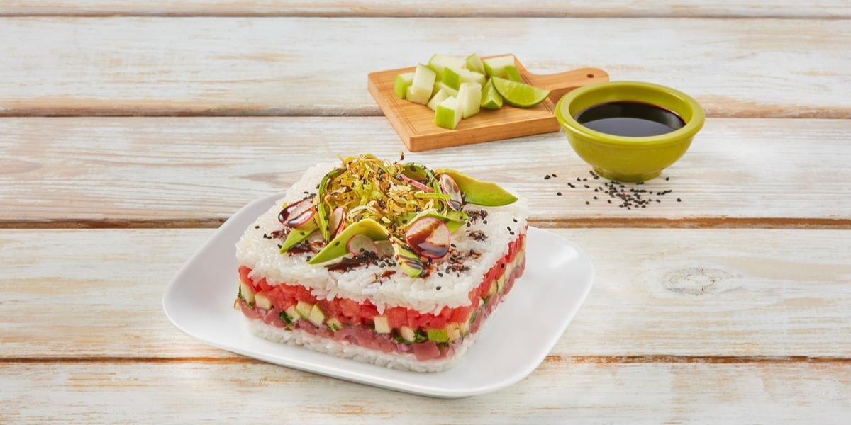 Sushi cake manzana verde