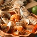 Pyszna zupa z owoców morza