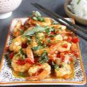 Crevettes sautées aux poivrons, basilic thai et Arome MAGGI
