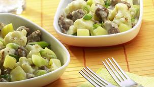 Blumenkohl-Kartoffel-Pfanne mit Hackfleisch