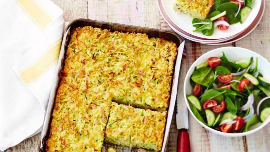 Noodle & Zucchini Slice