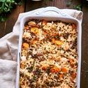 Zapekaná ryža s kuracím mäsom