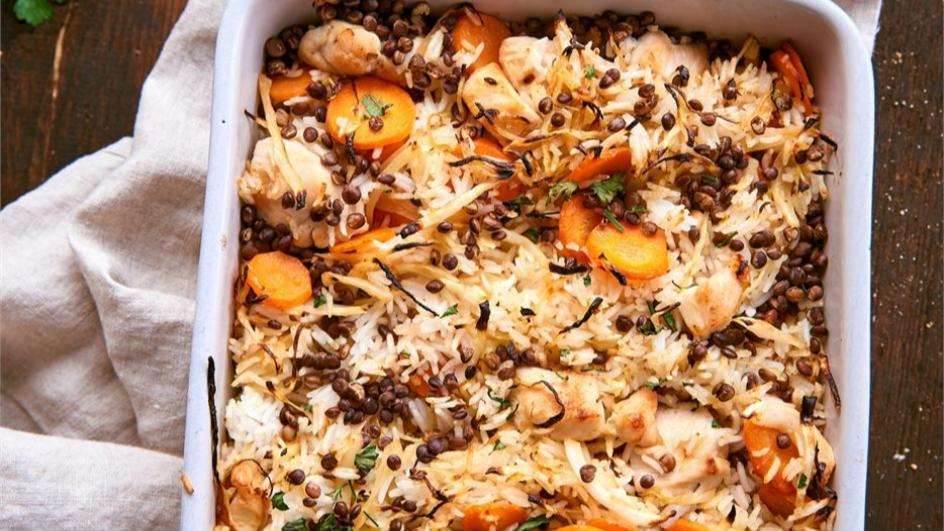 Rýžový kastrol s kuřecím masem