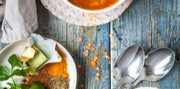 Marocká šošovicová polievka