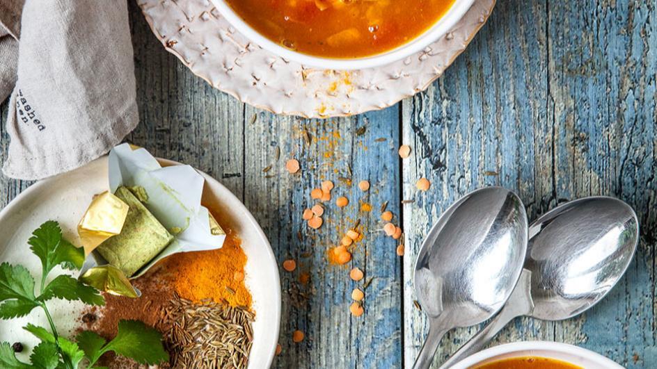 Marocká čočková polévka