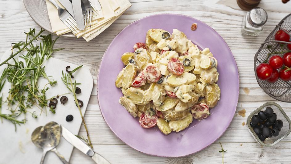Mediterraner Kartoffelsalat mit Mayonnaise