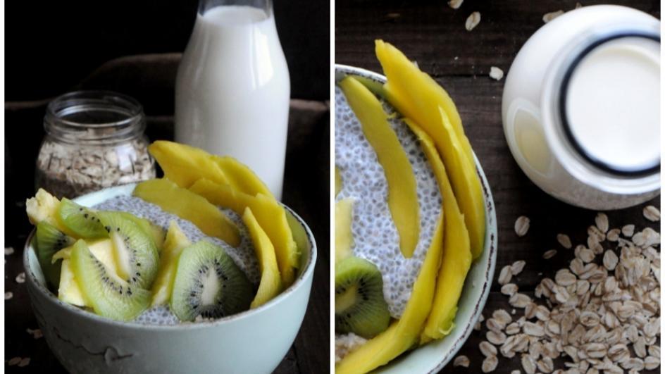 Owsianka z nasionami chia i mango